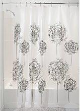 iDesign Allium PVC-Free PEVA Shower Curtain, 183 x
