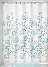 iDesign Azalea Fabric Shower Curtain, Polyester