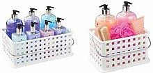 iDesign Basic Storage and Bath Basket for Shower