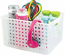 iDesign Basic Storage Basket, Large Plastic Bath