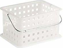 iDesign Basic Storage Basket, Small DVD Plastic