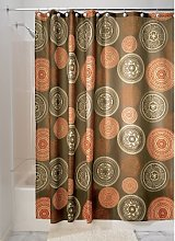 iDesign Bazaar Fabric Shower Curtain, Polyester