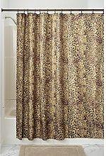 iDesign Cheetah Fabric Shower Curtain, Polyester