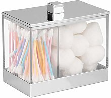 iDesign Clarity Metal Divided Canister with Lid
