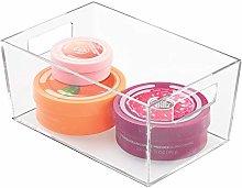 iDesign Clarity, Small Plastic Bathroom Bin for
