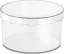 iDesign Clarity Storage Box With Lid, Small