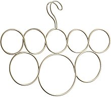 iDesign Classico Scarf Hanger with 8 Rings, Also