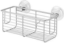 iDesign Classico Suction Basket, Silver