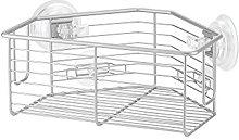 iDesign Classico Suction Corner Basket, Silver