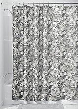 iDesign Daphne Fabric Shower Curtain, 183 x 183 cm
