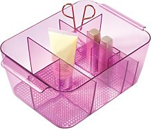 iDesign Divided Cosmetic Bin, Berry