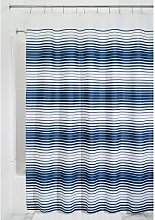 iDesign Enzo Fabric Shower Curtain, Polyester