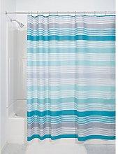 iDesign Hampton Stripe Fabric Shower Curtain, 183