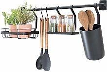iDesign Kitchen Wall Organiser, Metal Hanging