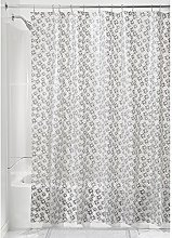 iDesign Laci PVC PEVA Shower Curtain, 183 x 183 cm