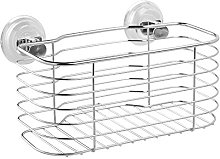 iDesign Lineo Power Lock Basket, Stainless Steel