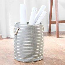iDesign Luca Fabric Storage, Round Bin with