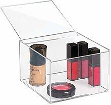 iDesign Makeup Box with Lid, Medium Size Bathroom