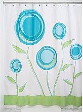 iDesign Marigold Fabric Shower Curtain, Polyester