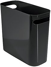 iDesign Plastic Bin with Handles, Slim Office Bin