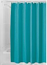 iDesign Poly Bath Curtains, Long Shower Curtain,