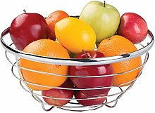 iDesign Round Fruit Bowl Made of Metal Wire,