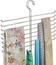iDesign Scarf Hanger with 8 Tiers, Metal Hanging