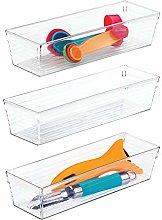 iDesign Sierra Plastic Drawer Organizer, Storage