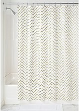 iDesign Sketched Chevron Fabric Shower Curtain,