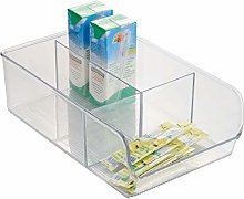 iDesign Storage Box with 3 Compartments, Large