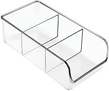 iDesign Storage Box with 3 Compartments, Medium