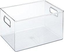 iDesign Storage Box with Handles, Extra Large