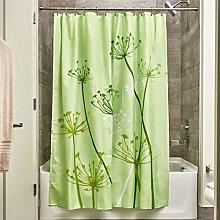 iDesign Thistle Shower Curtain, High Bathtub