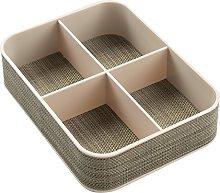iDesign Twillo 4-Compartment Desk Tidy Organiser,