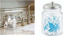 iDesign Westport Bathroom Vanity Glass Canister