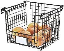 iDesign Wire Storage Basket, Large Metal Basket