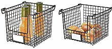 iDesign Wire Storage Basket, Small and Large Metal