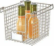 iDesign Wire Storage Basket, Small Metal Basket