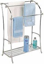 iDesign York Lyra Floor Towel Stand, Split Finish