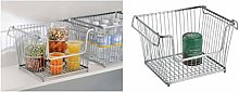 iDesign York Lyra Wire Basket, Compact Kitchen