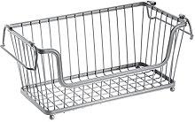 iDesign York Lyra Wire Basket, Compact Kitchen
