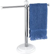 iDesign York Metal Towel Holder Stand for Bathroom