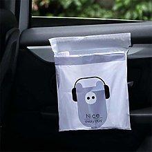 Idiytip 15Pcs Car Trash Bag Self-Adhesive Car