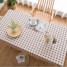Idyllic Cotton and Linen Tablecloth Coffee Table