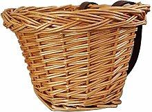 idystore Bike Basket Large Handmade Willow Bicycle