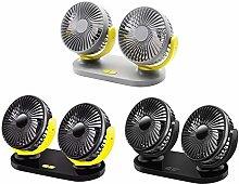 IENPAJNEPQN 12V 24V USB Car Adjustable Cooling Fan