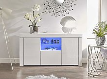IF White Gloss Display Cabinet Sideboard Cupboard