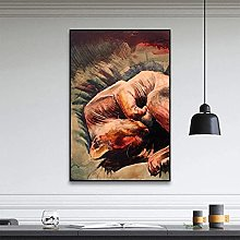 IFUNEW Canvas pictures Cat Wall Art Canvas Print