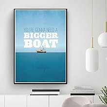 IFUNEW Canvas pictures Movie Boat Inspire Poster