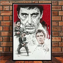 IFUNEW Canvas pictures Print Gangster Movie Al